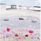 Sea Mist & Poppies Print Large