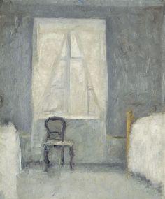 Vilhelm Hammershøi (Danish, 1864-1916). Bedchamber, 1890