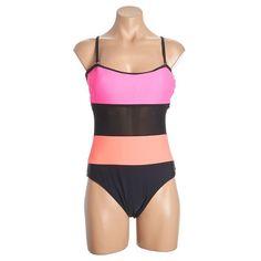 One Piece Color Block Swimsuit Jr 234056538 | Swimwear Cover Ups | Junior | Shop by Size | Juniors | Burlington Coat Factory