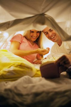 Fort date night...with a list of activities designed to help you fall in love all over again.