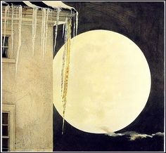 Andrew Wyeth 'Moon Madness' 1982  tempera paint by Plum leaves, via Flickr