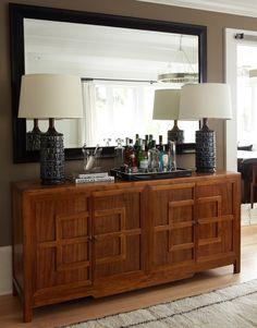 Sideboard decor living room contemporary with mid century ceramic lamp moroccan rug oak floor dry bar
