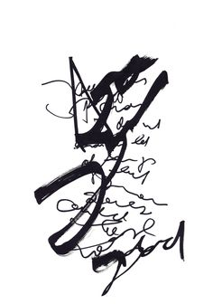 Experimental calligraphy and asemic writing - by mila blau