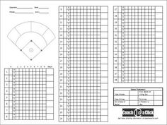 Pitching Chart For Clipboard  Baseball    Fastpitch