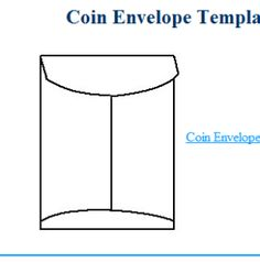 Make These Blank, Easily Decorated Envelope Templates Your Next Crafts Project: Coin Envelope