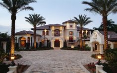 spanish mansion style homes - Google Search