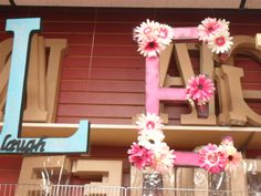 Ready-to-Finish Giant Letter Decorations | Porter's Craft & Frame