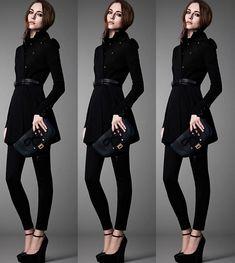 24 Looks que te convencerán de adoptar el negro de pies a cabeza Outfit Vestido Negro, Outfits Pantalon Negro, Office Outfits, Casual Outfits, Casual Dressy, Jeans Outfit Winter, Wearing Black, Coats For Women, Korean Fashion