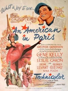 """An American In Paris""  Gene Kelly and  Leslie Caron,   which was her  first movie.  The music, the dancing, the love! Sssswonderful! Won the academy Award for Best Picture.  1951"