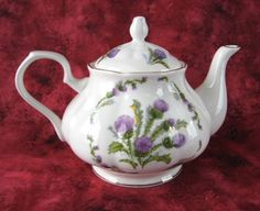 Glamis Thistle Teapot New Springfield English Bone China 4-6 Cups New