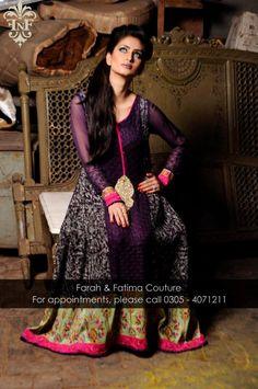 new stylish dress Farah and Fatima 2014 for wedding
