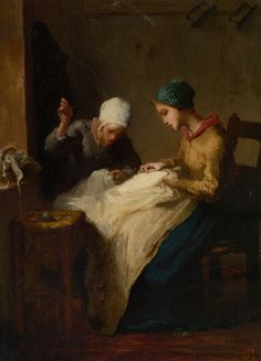 Jean-Francois Millet | The Young Seamstress