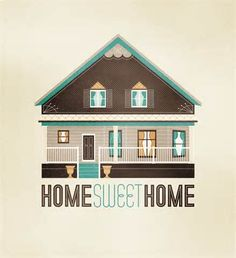home sweet home illustratio