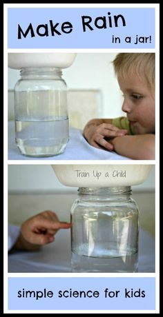 Does it Rain? Make it rain in a jar with this simple science experiment for kids.How Does it Rain? Make it rain in a jar with this simple science experiment for kids. Easy Science Experiments, Science Fair, Science Lessons, Science For Kids, Science Activities, Science Projects, Weather Activities, Weather Experiments, Summer Science