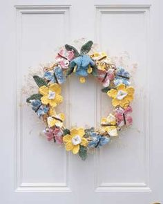 Free Spring Wreath Crochet Pattern