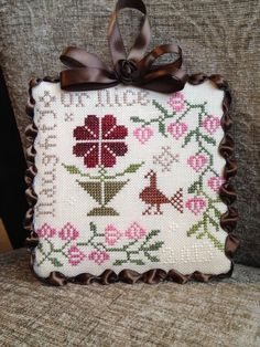 Blackbird designs cross stitch ornament