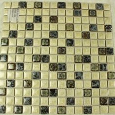 Collection: Porcelain Mosaic Tiles; Material: Porcelain; Shape: Square; Color: Beige and Brown; Size: 300 x 300 x 4 mm; Chip Size: 25 x 25 mmMosaic Tiles specializes in quality handcrafted porcelain mosaic tiles that add excitement to your pool, home, and outdoor area. They are composed of colored porcelain tiles of different shapes and sizes arranged to form lifelike images.Each sheet of the porcelain mosaic tile is approximately 1 sq ft per sheet and is mesh mounted for easy installation… Glass Tile Backsplash, Glass Mosaic Tiles, Stone Mosaic, Kitchen Backsplash, Mosaic Art, Mosaic Tile Designs, Tile Flooring, Porcelain Tiles, Shapes