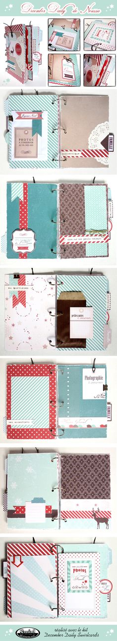 December Daily de Noussa - kit Swirlcards
