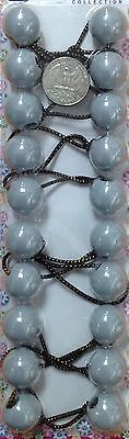gray   ELASTIC PONYTAIL HOLDER jumbo BEADs GIRL HAIR SCRUNCHIE KNOCKER BALL