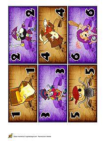 Piratengeld 1 kleuters / Découpage billets de banque pour enfants