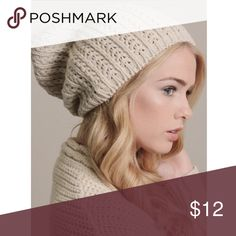 IVORY KNIT BEANIE OS IVORY KNIT BEANIE, super cute, can be worn tight or with a slouchy look, perfect for the season Accessories Hats