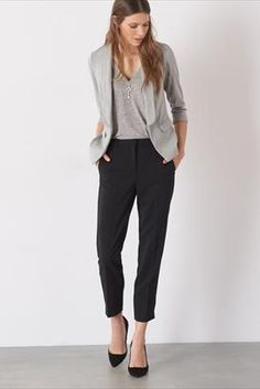 Our classic work pant, the Cindy High Rise Cigarette Pant