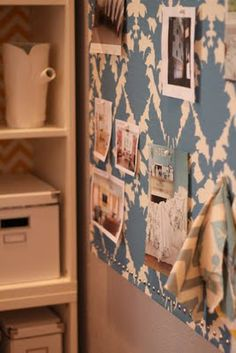 Fabric covered inspiration board diy