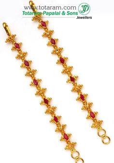 22k gold ear chain