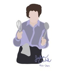 Illustration I did of Julia Child #kitchenconfidential #SXSW #sunshine #summer #streetfood #NoReservations #culinary #kitchen #home