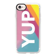 Bright Yup - iPhone 7 Case And Cover ($40) ❤ liked on Polyvore featuring accessories, tech accessories, iphone case, clear iphone case, apple iphone case, iphone cases and iphone cover case