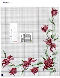 This Pin was discovered by rem 123 Cross Stitch, Cross Stitch Boarders, Cross Stitch Flowers, Cross Stitch Charts, Cross Stitch Designs, Cross Stitching, Cross Stitch Embroidery, Cross Stitch Patterns, Christmas Embroidery Patterns