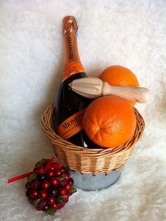 mimosa gift, gift baskets, basket idea, mimosa basket, gift idea