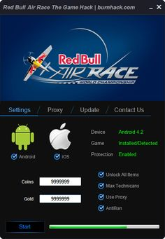 Red Bull Air Race: The Game Hack Cheat Unlimited Coins   http://burnhack.com/red-bull-air-race-game-hack-cheat-unlimited-coins/