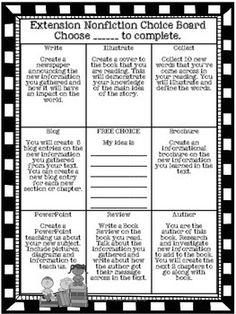 Extension MENU Activities for Gifted or Early Finishers {F