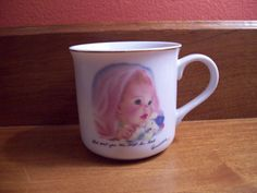 1984 Baby's First Gift Cup by Frances Hook  by VintageofTheHeart
