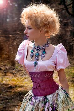 Love the necklace and skirt.