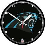 WinCraft Carolina Panthers NFL Round Wall Clock