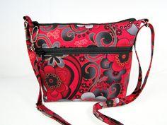 Stunning Contemporary Flower Handmade Fabric Purse / Cross Body Handbag by darlingsdesigns on Etsy