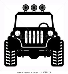 Off-road vehicle, vector illustration jeep Jeep Wrangler, 4 Door Wrangler, Jeep Cars, Jeep 4x4, Jeep Drawing, Jeep Stickers, Stencils, Silhouette Clip Art, Modelos 3d