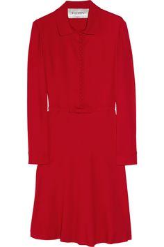 Valentino Belted Crepe Dress