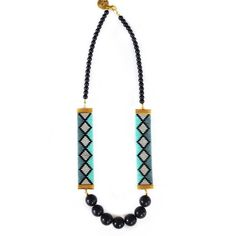 Miami Nights Necklace in Blue by Shh by Sadie