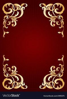 Golden frame vector image on VectorStock Islamic Wallpaper Hd, Gold Wallpaper, Colorful Wallpaper, Pattern Wallpaper, Wedding Background Images, Banner Background Images, Invitation Background, Flower Phone Wallpaper, Iphone Wallpaper