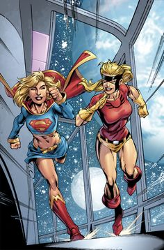 Supergirl and Jesse Quick