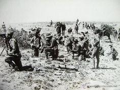 Legionarios 1924-GUERRA DE ÁFRICA. RIF. MARRUECOS. ESPAÑA.FOTO ORIGINAL GRANDE 25,5x20,5 cm - Foto 2