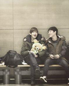 Chen & Baekhyun// that's chanyeol's rilakkuma or..