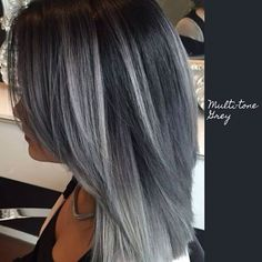 Pin von Melissa Fornash auf Hair im Jahr 2019 fornash melissa 238690848987817535 Dip Dye Hair, Dyed Hair, Charcoal Hair, Gray Hair Highlights, Hair Color And Cut, Hair Colour, Gorgeous Hair, Hair Looks, Hair Inspiration