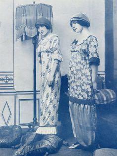 """March 1911 - Paul Poiret """"Pochoir"""" or printed dresses"""