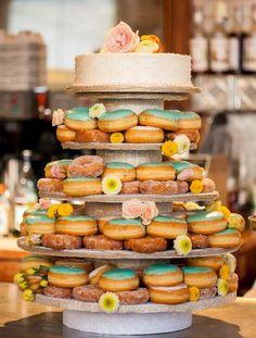 10 Doughnut Wedding Cake Ideas