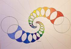 Geometric Drawing, Geometric Art, Sacred Geometry Art, Fractal Geometry, Escher Tessellations, Circle Drawing, Graph Paper Art, Math Art, Shape Art
