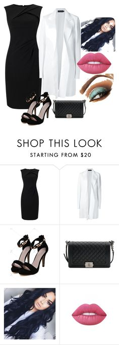 """""""Вечерний лук"""" by raymon on Polyvore featuring мода, Adrianna Papell, Calvin Klein Collection, Chanel и Lime Crime"""